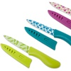 Patterned Kitchen Utility Knives with Sheaths (3-Pack)