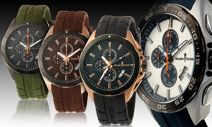 Studer Schild Men's Eli Chronograph Watch: Studer Schild Men's Eli Chronograph Watches. Multiple Styles Available. Free Returns.