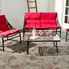 South Beach 4-Piece Rattan Outdoor Furniture Set