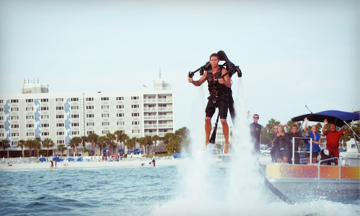 TradeWinds Island Grand Resort - TradeWinds Island Grand Resort (Leisure): $195 for One Jetlev Water-Propelled-Jetpack Flight and Two Beach Passes at TradeWinds Island Grand Resort ($410 Value)