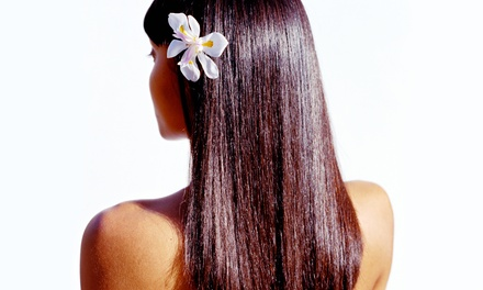 One or Three Keratin Treatments with Haircuts and Blowouts at La Pearl Beauty Emporium (Up to 65% Off)