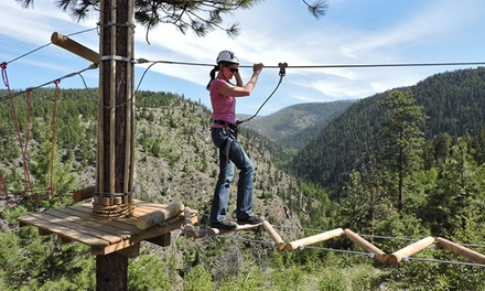 Ropes and Challenge Course for One or Two Adults at Myra Canyon Adventure Park (Up to 38% Off)