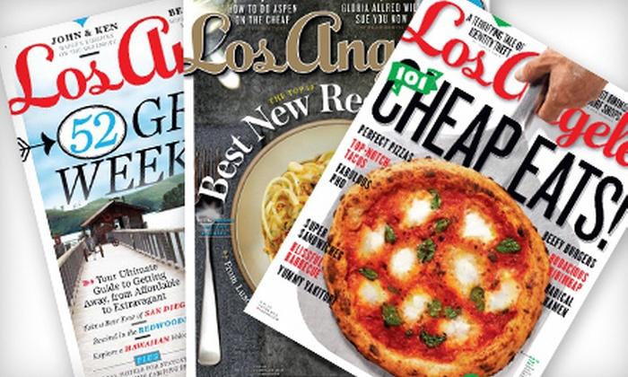 """Los Angeles magazine: $6 for a One-Year Subscription to """"Los Angeles"""" Magazine ($12 Value)"""