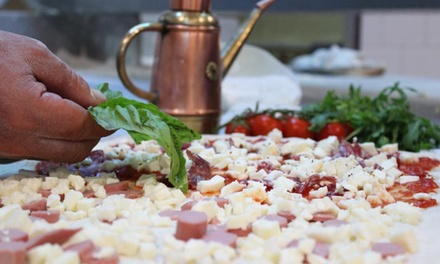 Pizza alla carta con antipasto e dolce