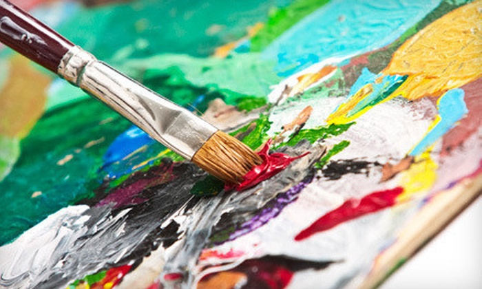 Create Art Studio - Fayetteville: Open Painting Session with Art Supplies for Two, Four, or Six People at Create Art Studio in Fayetteville (Half Off)