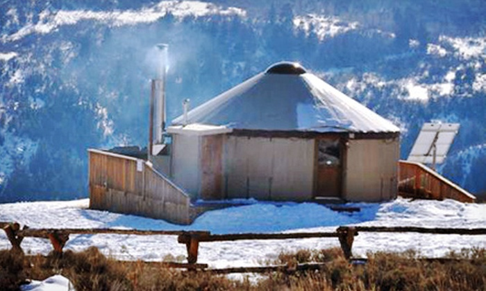 Blue Sky Adventures - Wanship: One-Night Stay in Remote Mountain Yurt at Blue Sky Adventures (Up to 55% Off). Two Options Available.