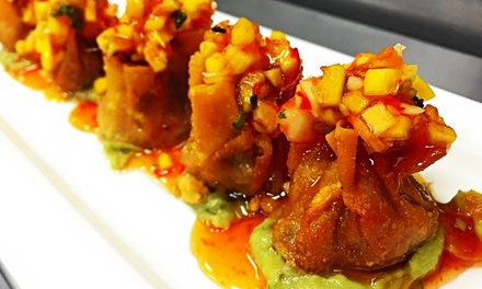 Pan-Asian Small Plates or Four-Course Dinner for Two at Moksa (Up to 42%Off)