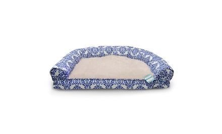 Waverly 1-Arm Bolster Pet Bed or Pet Couch Bed. Multiple Styles Available.