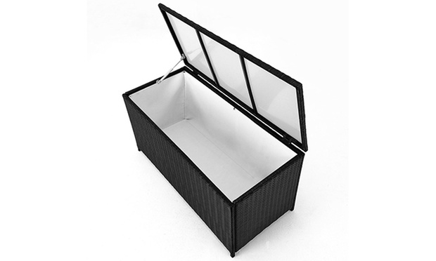 polyrattan xl aufbewahrungsbox f r gartenm bel auflagen. Black Bedroom Furniture Sets. Home Design Ideas