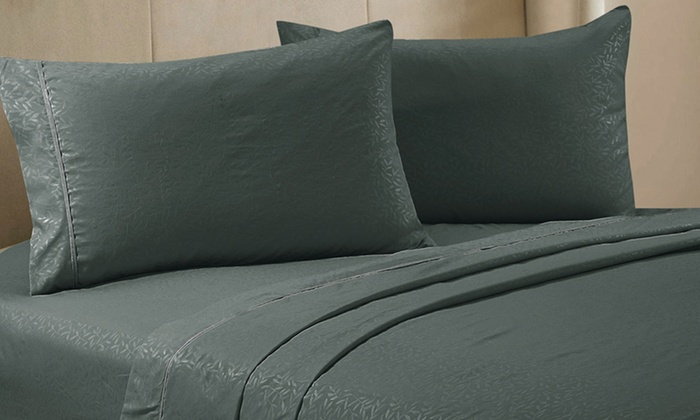 Essentially Home Living Embossed Living Leaf Pattern Sheet Set: Essentially Home Living Embossed Microfiber Sheet Set. Multiple Colors Available. Free Returns.