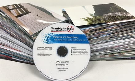 "$29.99 for Photo-to-DVD Scanning for up to 1,000 4""x6"" Photos from ScanMyPhotos.com ($179.95 Value)"