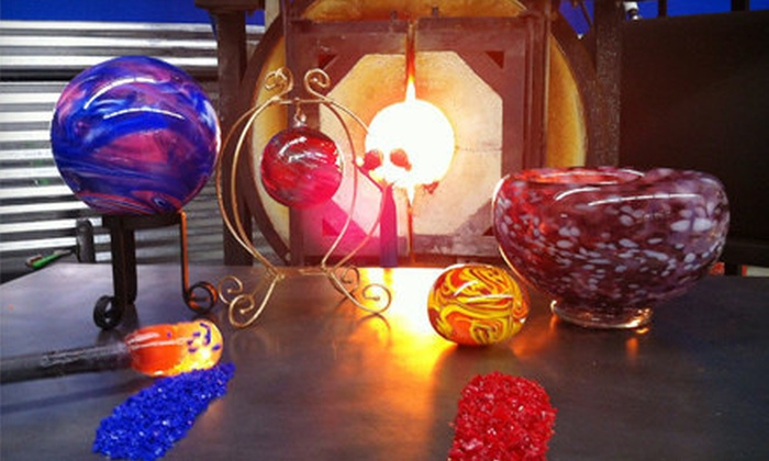 Live Laugh Love Glass - Tigard Neighborhood Area 6: Glass-Blowing Class for Paperweight, Ornament, Float, or Large Bowl at Live Laugh Love Glass in Tigard (Half Off)