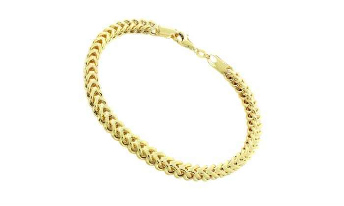 bracelet yellow il hollow listing box gold franco