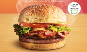 Bifão Steakhouse - Vila Velha: Bifão Steakhouse – Vila Velha: lanche com fritas e refrigerante para 1 ou 2 pessoas (opção com apenas o lanche)