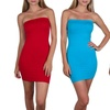 Seamless Tube Slip Dresses