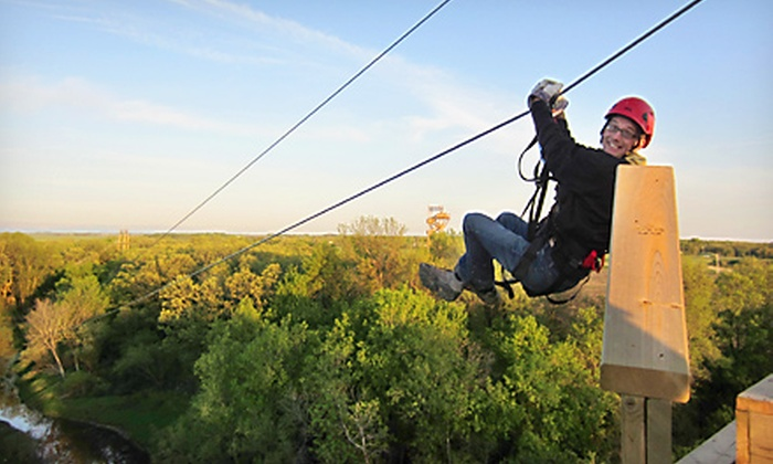 A Maze In Corn - St Adolphe: Two-Hour Ziplining Tour for Two or Four at A Maze in Corn (Up to 53% Off)