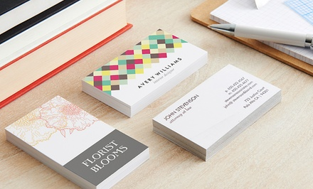 groupon daily deal - Pack of 100 Custom Business Cards from Zazzle. Regular or Ultra-Thick from $10–$18.99.