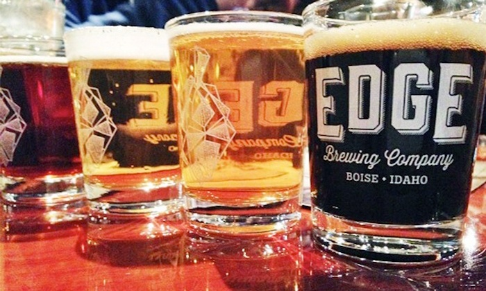 Edge Brewing Company - West Bench: Brewpub Visit with Beers, Appetizers, and Pint Glasses for Two or Four at Edge Brewing Company (Up to 50% Off)