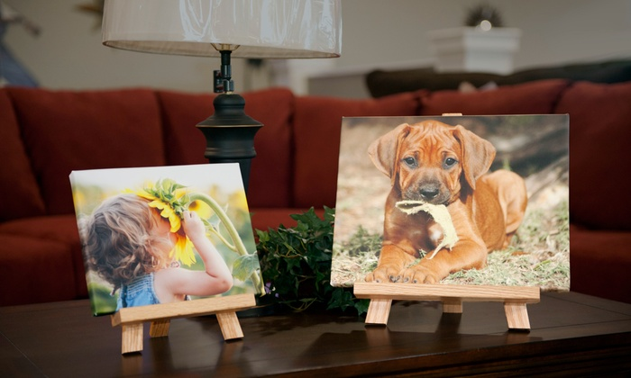 """Shutterbug Printing Specialties: 8""""x10"""" or 11""""x14"""" Custom Canvas Easel Pic with Shipping from Shutterbug Printing Specialties (Up to 56% Off)"""