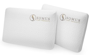 Somus Sleep Products: Two-Pack of Somus Memory Foam Supreme Pillows ($179.98 Value)