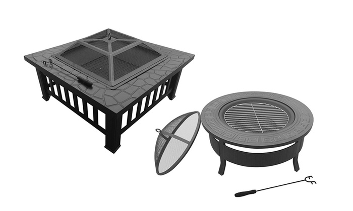Portable Fire Pit Beach : Portable outdoor fire pit groupon goods