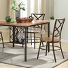Monroe Vintage Industrial 5-Piece Dining Set