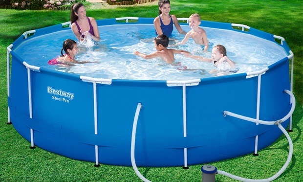 Bestway Swimming Pools With Pump Groupon Goods