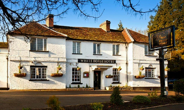 The White Horse Hotel - The White Horse Hotel: Hertfordshire: 1 or 2 Nights For Two With Dinner from £79 at The White Horse Hotel (Up to 57% Off)