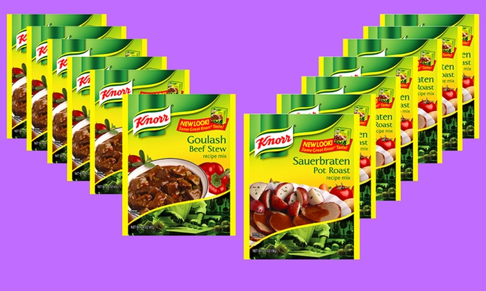 12-Pack of Knorr Recipe Mixes: 12-Pack of Knorr Recipe Mixes. Multiple Flavors Available.