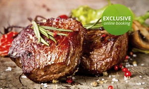 The Famous Butchers Grill: 200g Rump or Sirloin and Dessert from R198 for Two at The Famous Butchers Grill (Up to 52% Off)