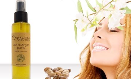 Olio di Argan biologico puro al 100% Kahuna Benessere disponibile in vari formati da 10 € (fino a 67% di sconto)