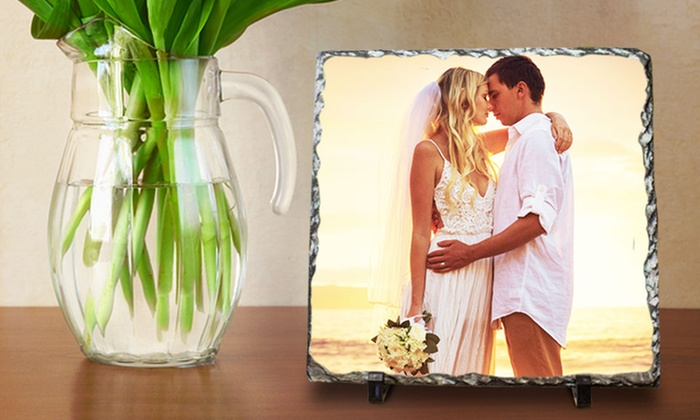"""Picture it on Canvas **NAT**: 6""""x8"""" or 12""""x12"""" Custom Photo on Slate from Picture It On Canvas (Up to 58% Off)"""