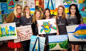 Wine & Design: BYOB Painting Class for One at Wine & Design (Up to 46% Off). Two Options Available.