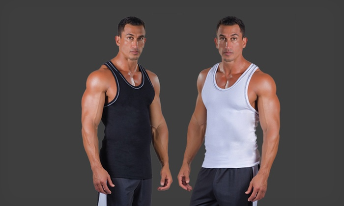 cdca63b4bb3e2 57% Off a Pitbull Gym Men s Ribbed Compression Tank Top