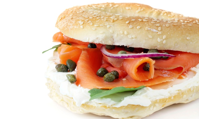 Lox of Bagels - Torrance: Bagel Sandwiches or Two Baker's-Dozen Bagels from Lox of Bagels (Up to 54% Off). Two Options Available.