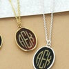 ShopOnlineDeals Acylic Monogram Pendant Necklace