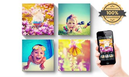 1, 2, 3 o 4 foto-lienzos Instagram personalizables de tamáo 25X25 cm desde 7,99 € en Printer Pix