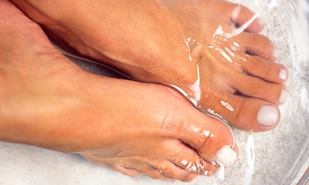 One or Five Ionic Footbaths with 60-Minute Reflex Massages at Dharani Healing Arts (Up to 51% Off)
