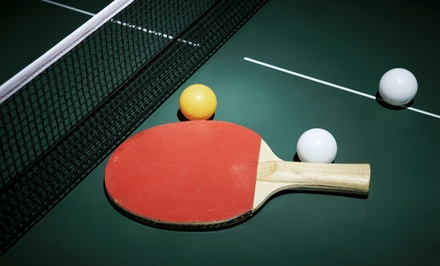 5 or 10 All-Day Passes for Two or 3-Month Membership for One at  Westchester Table Tennis Center (Up to 51% Off)