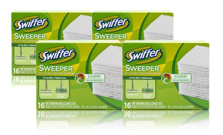 Swiffer Dry Sweeper Disposable Cloths; 12-Pack of 16ct. Boxes + 5% Back in Groupon Bucks
