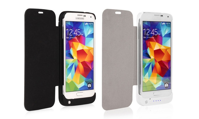 Naztech 3,200mAh Power Case with Flip Cover for Samsung Galaxy S5: Naztech 3,200mAh Power Case with Flip Cover and Kickstand for Samsung Galaxy S5