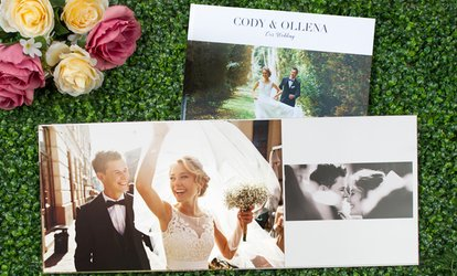 Layflat Imagewrap Hardcover Photobooks in Landscape, Portrait, or Square Style from Photobook America (Up to 91% Off)