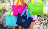 Embellish Accessories and Gifts **NAT**: One or Two Monogrammed Totes from Embellish Accessories and Gifts (Up to 58% Off)