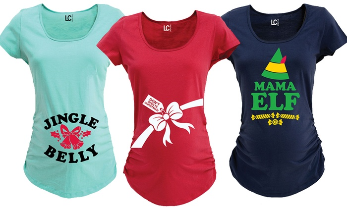 Maternity Christmas Shirt.Women S Christmas Maternity T Shirts Groupon