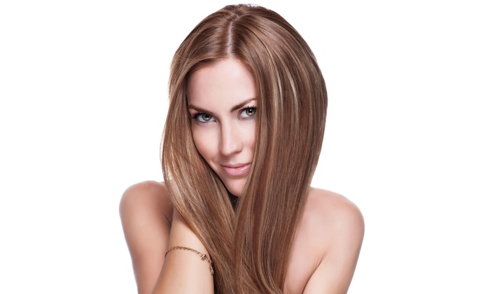 Paris Salon - St. James: Haircut and Blowout with Optional Glaze and Single-Process Color or Partial Highlights at Paris Salon (Up to 57% Off)
