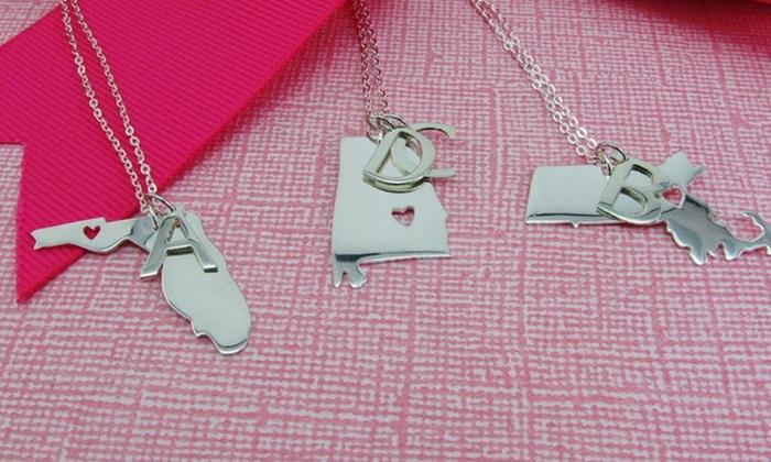 Namejewelryspot.com: Custom State Necklace from Name Jewelry Spot