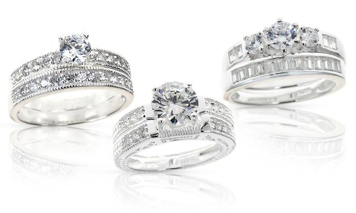 Cubic Zirconia Bridal Ring Sets | Groupon Goods