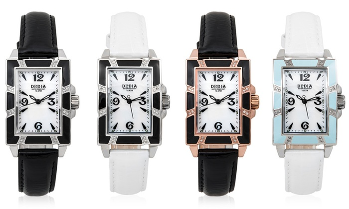 Dedia Lily Diamond Bezel LR or MR Unisex Watches: Dedia Lily LR or Lily MR Unisex Watches. Multiple Styles from $137.99—$189.99. Free Shipping and Returns.