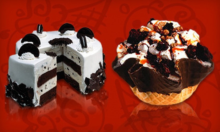 Cold Stone Creamery - Multiple Locations: Ice Cream, Sundaes, and Shakes or Cakes and Cupcakes at Cold Stone Creamery (Half Off). Two Locations Available.