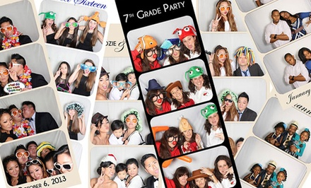 Three-Hour Photo-Booth or Four-Hour Instagram Printing-Station Rental from Garden State Photo Booth (50% Off)
